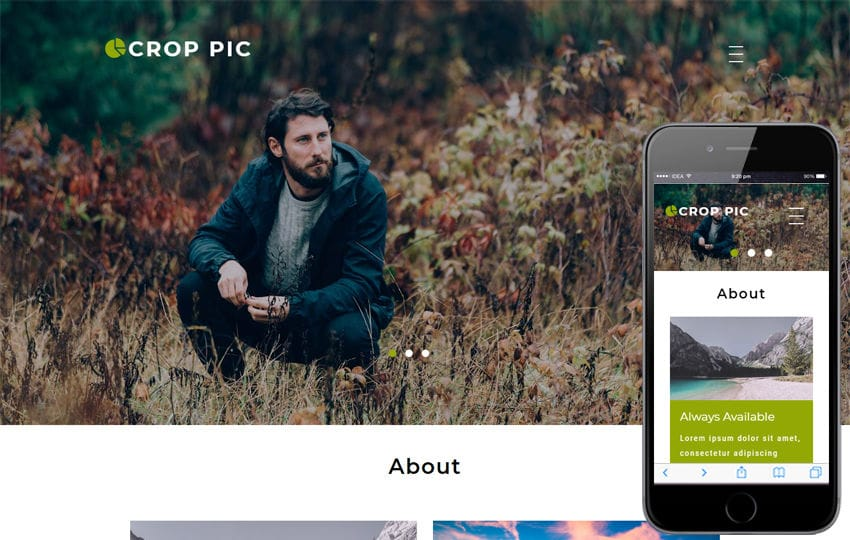 Crop Pic Photo Gallery Category Bootstrap Responsive Web Template