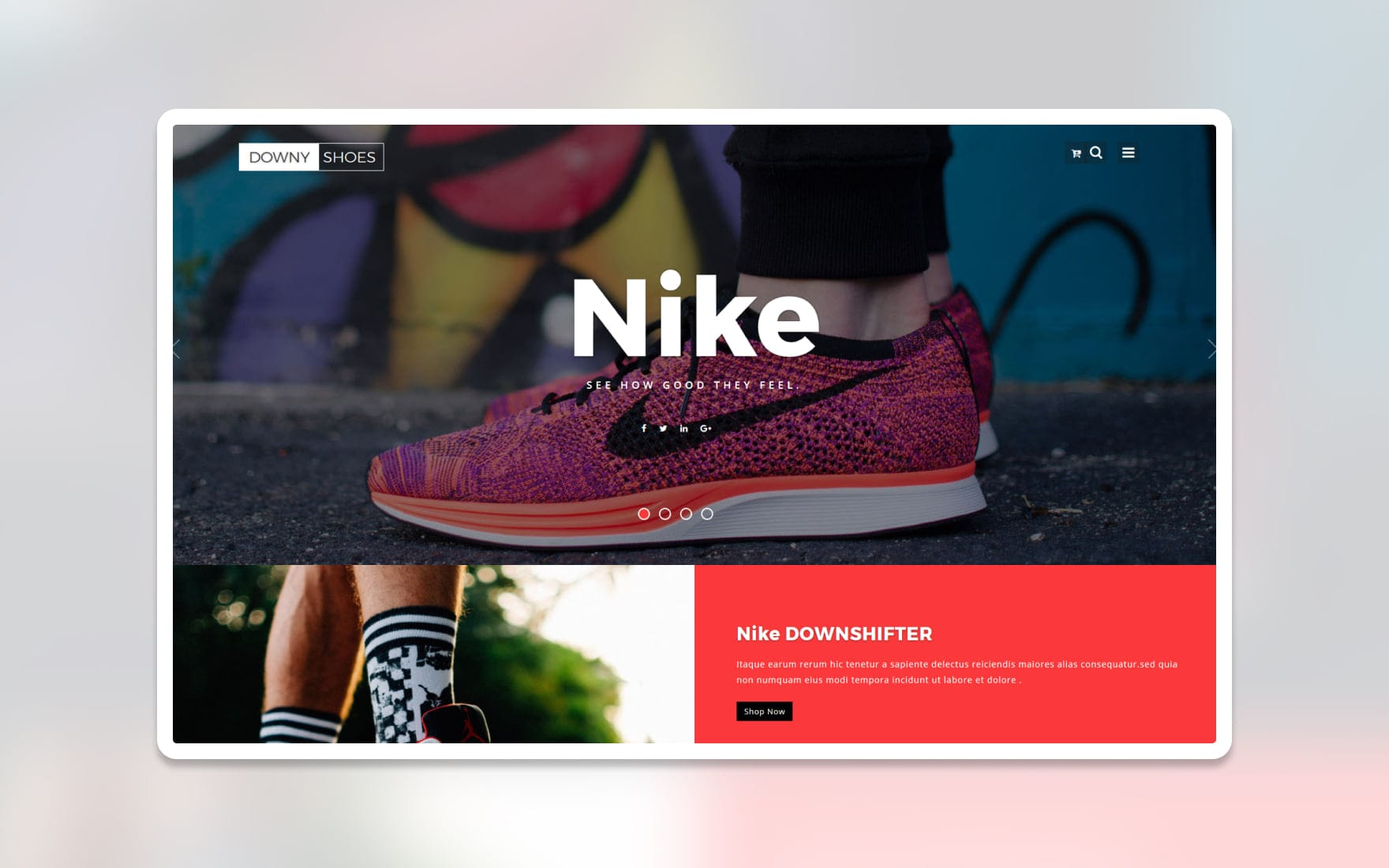 Downy Shoes Ecommerce Category Bootstrap Responsive Web Template
