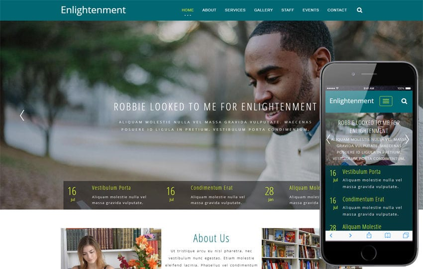 Enlightenment Educational Category Bootstrap Responsive Web Template