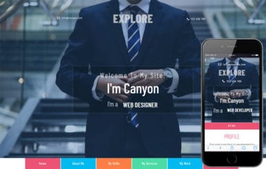 Explore a Personal Category Bootstrap Responsive Web Template