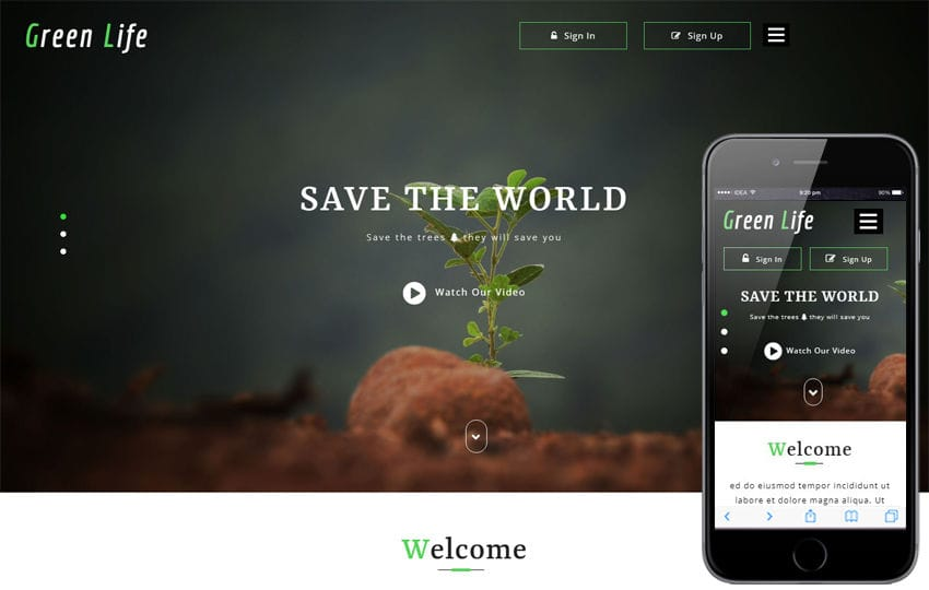 Green Life Agriculture Category Bootstrap Responsive Web Template