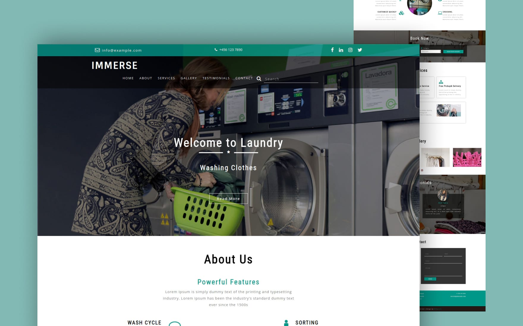 immerse website template