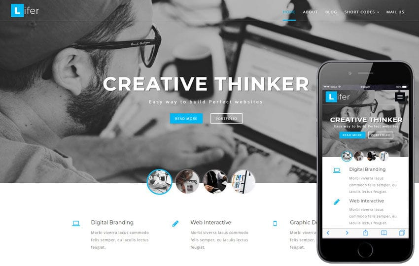 Lifer Corporate Category Bootstrap Responsive Web Template