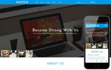 Maven Corporate Category Bootstrap Responsive Web Template