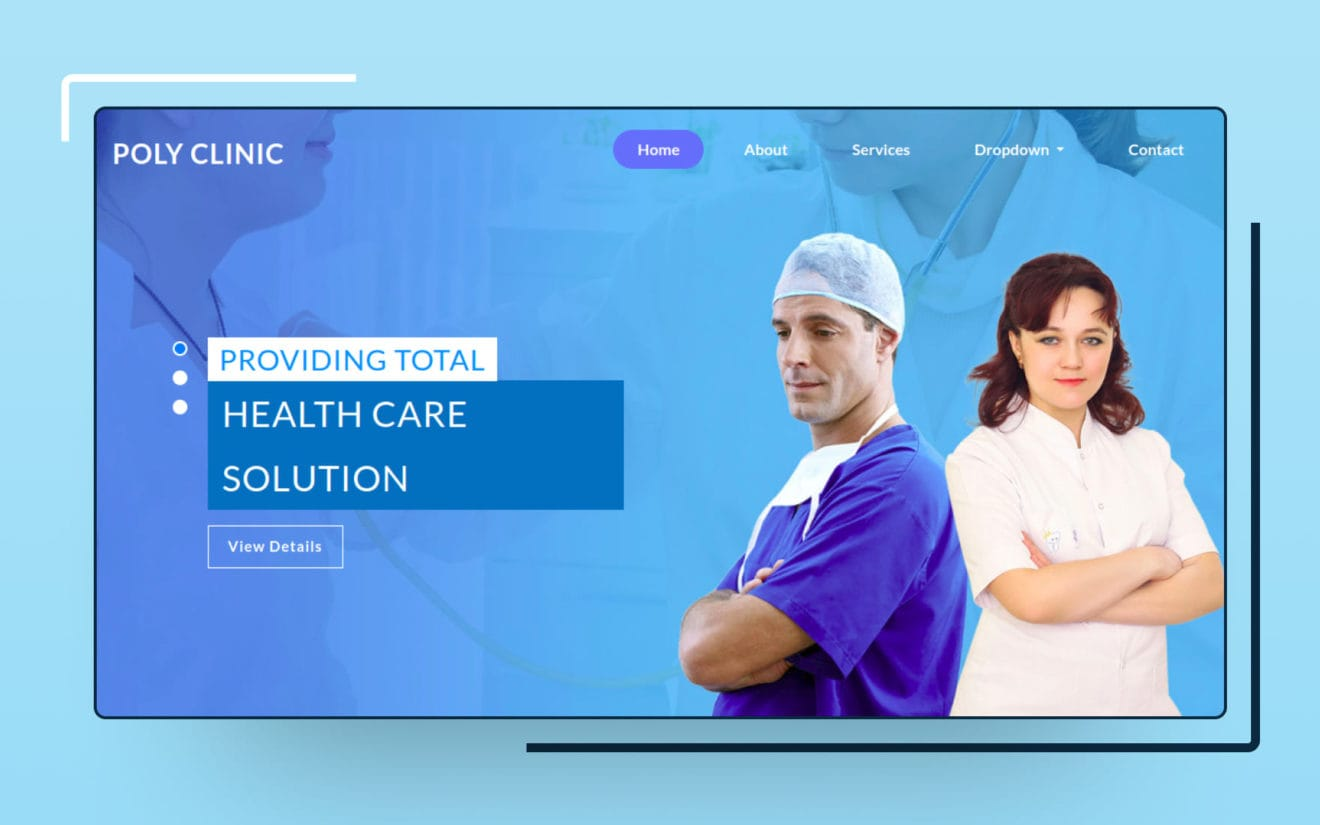 Poly Clinic – Medical Category Bootstrap Responsive Web Template