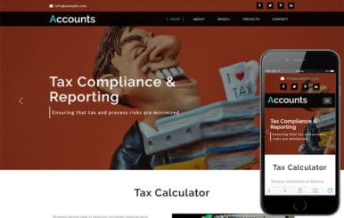 Accounts Corporate Category Bootstrap Responsive Web Template