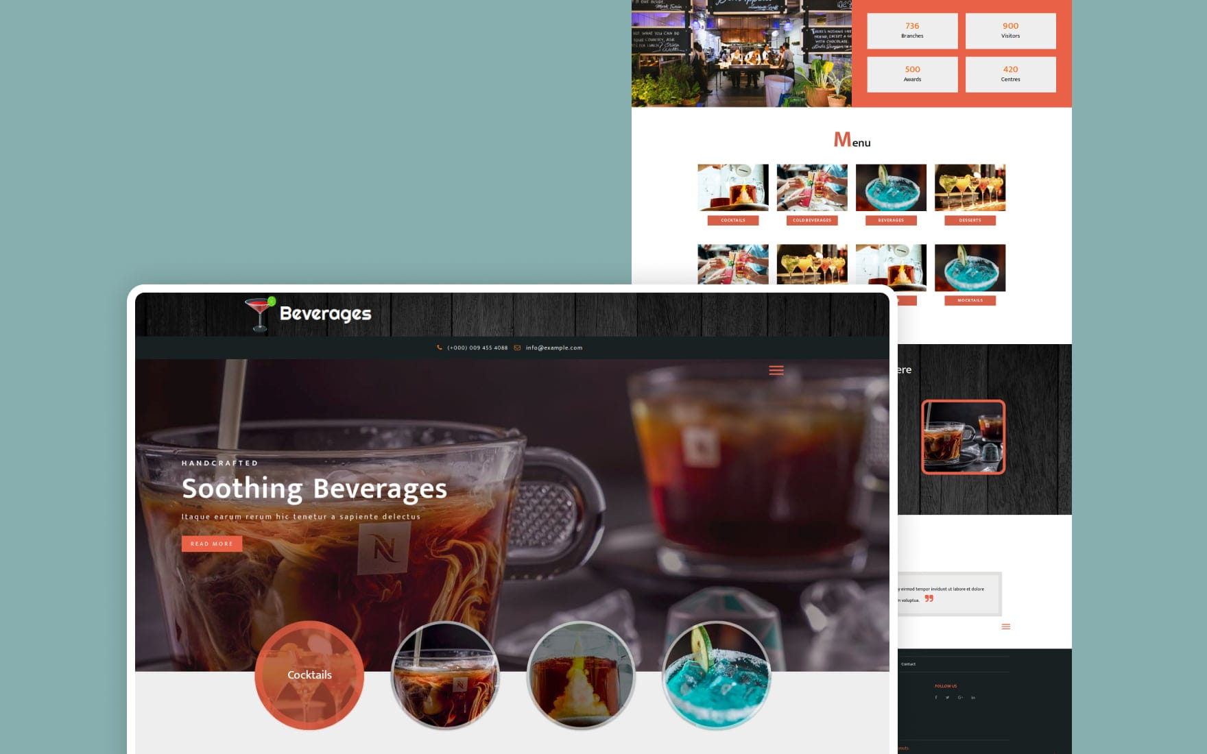 Beverages Restaurant Category Bootstrap Responsive Web Template