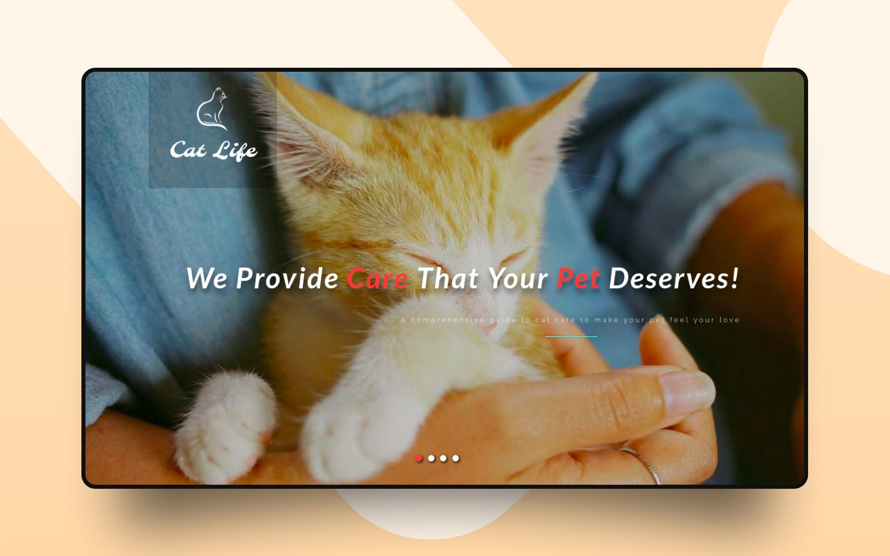 Cat Life – Animals Category Bootstrap Responsive Web Template