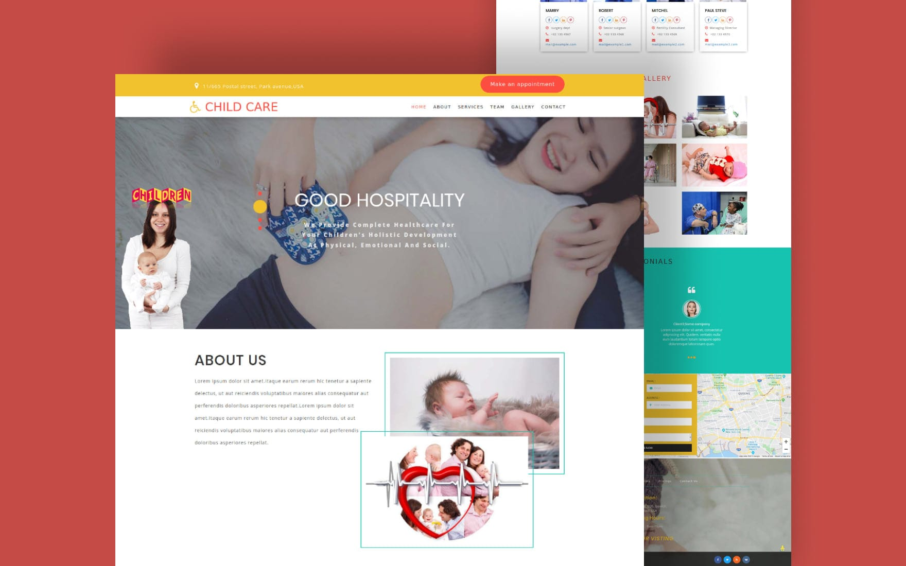 Child Care Medical Category Bootstrap Responsive Web Template