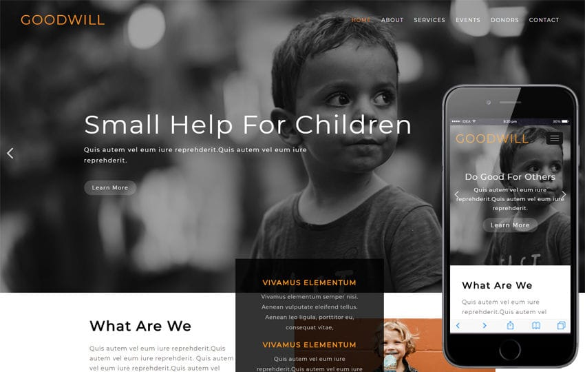 Goodwill Society Category Flat Bootstrap Responsive Web Template