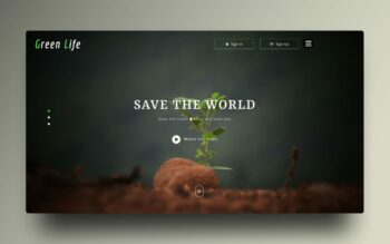 green life website template