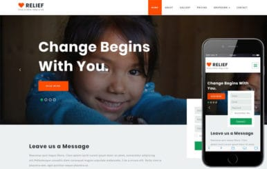 Relief Society and People Category Bootstrap Responsive Web Template