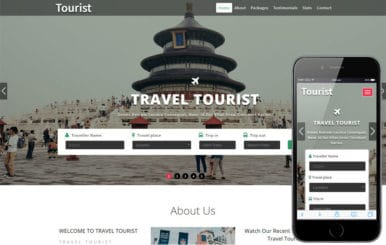 Tourist a Travel Category Bootstrap Responsive Web Template