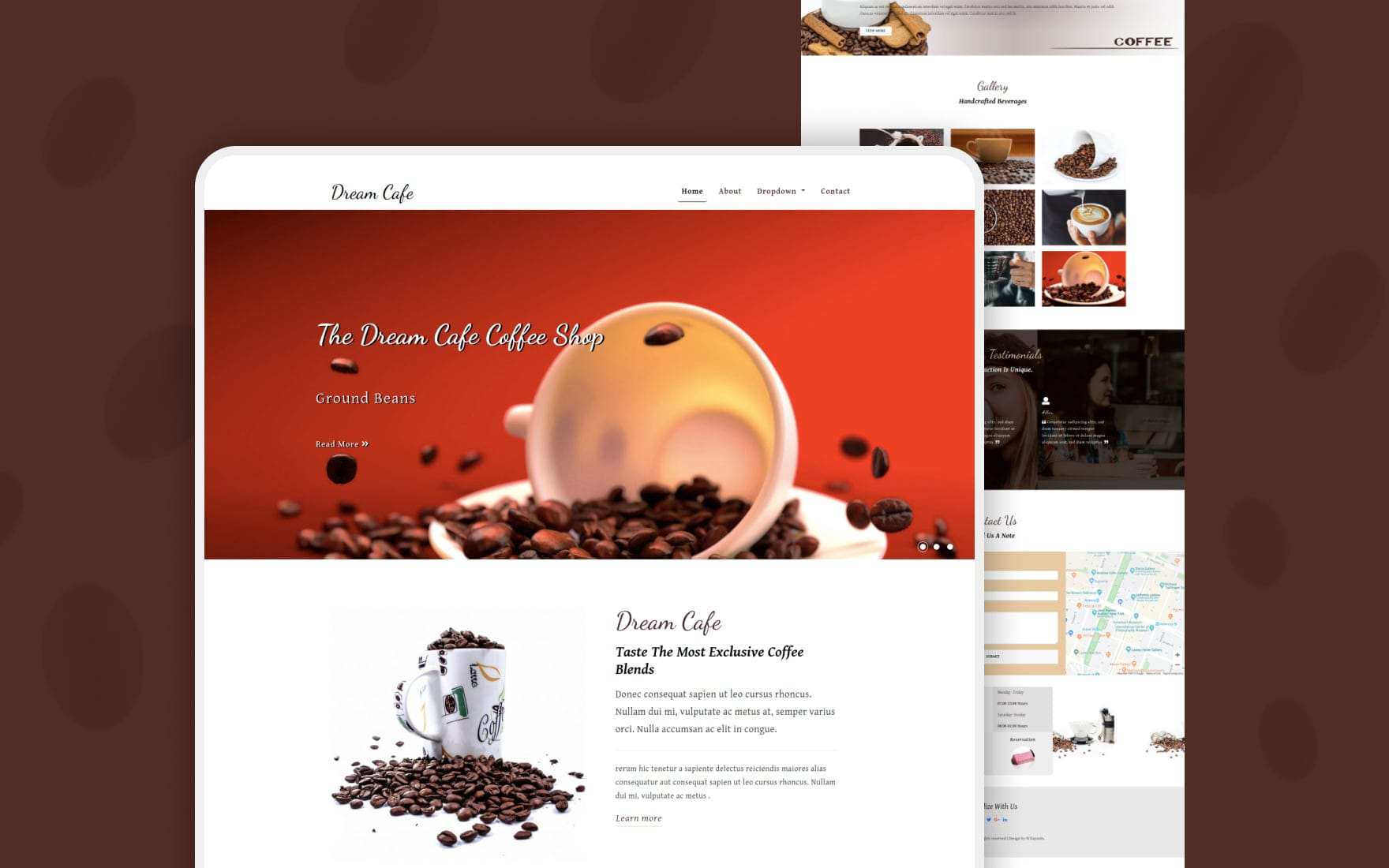Dream Cafe Restaurant Category Bootstrap Responsive Web Template