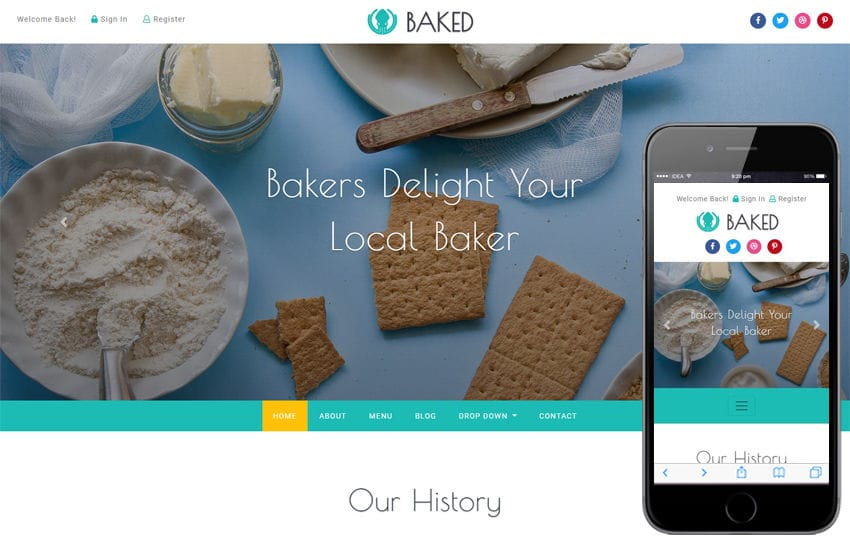 Baked Hotel Category Bootstrap Responsive Web Template