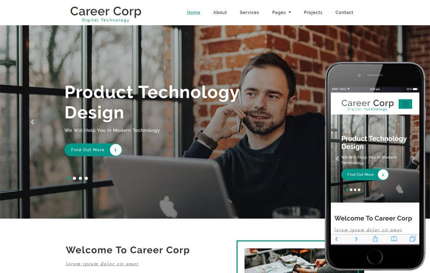Career Corp Corporate Category Bootstrap Responsive Web Template