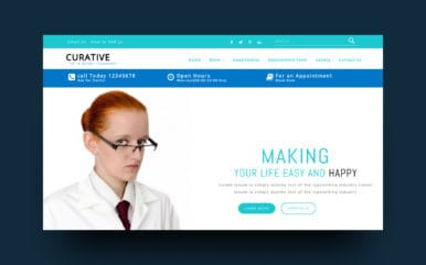 Curative Medical Category Bootstrap Responsive Web Template