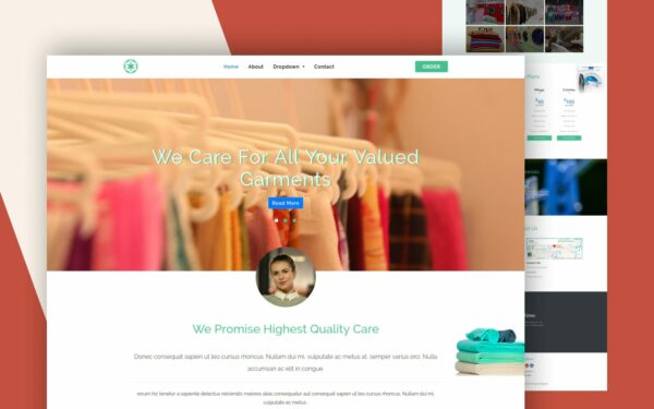 go laundry website template