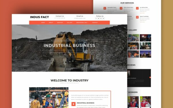 indus fact website template