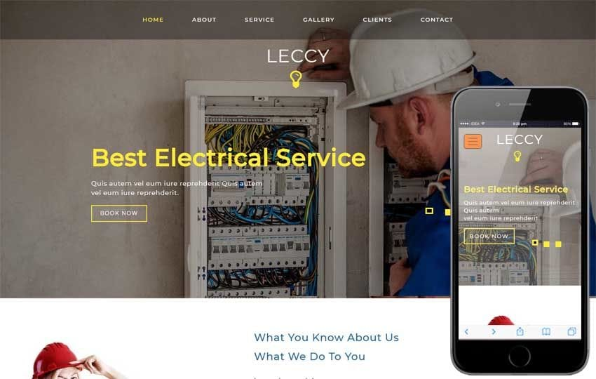 Leccy Industrial Category Bootstrap Responsive Web Template