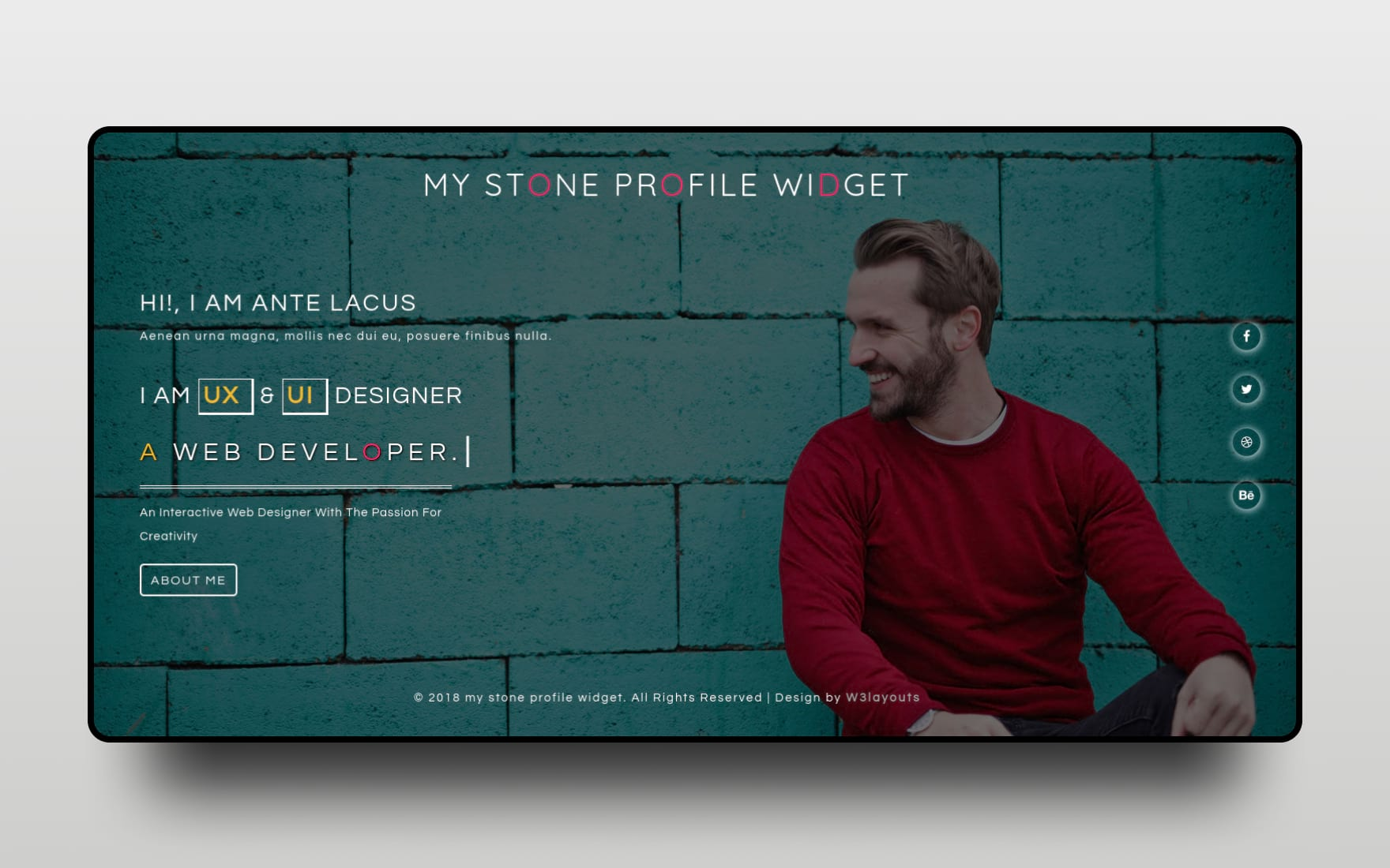 My Stone Profile Responsive Widget Template