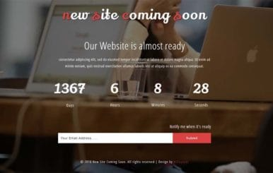 New Site Coming Soon Flat Responsive Widget Template