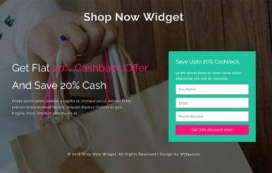 Shop Now Widget Flat Responsive Widget Template