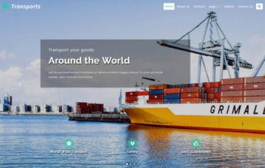 Transports Transportation Category Bootstrap Responsive Web Template