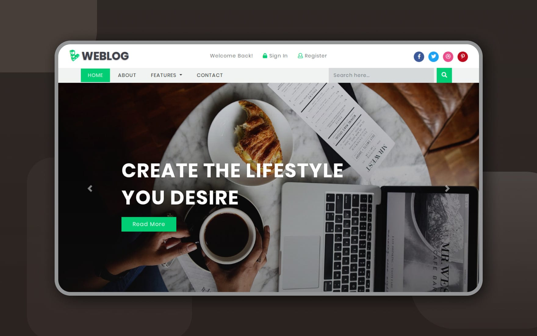 Weblog Blogging Category Bootstrap Responsive Web Template