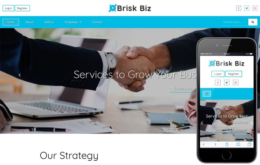 Brisk Biz Corporate Category Bootstrap Responsive Web Template