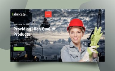 fabricate website template