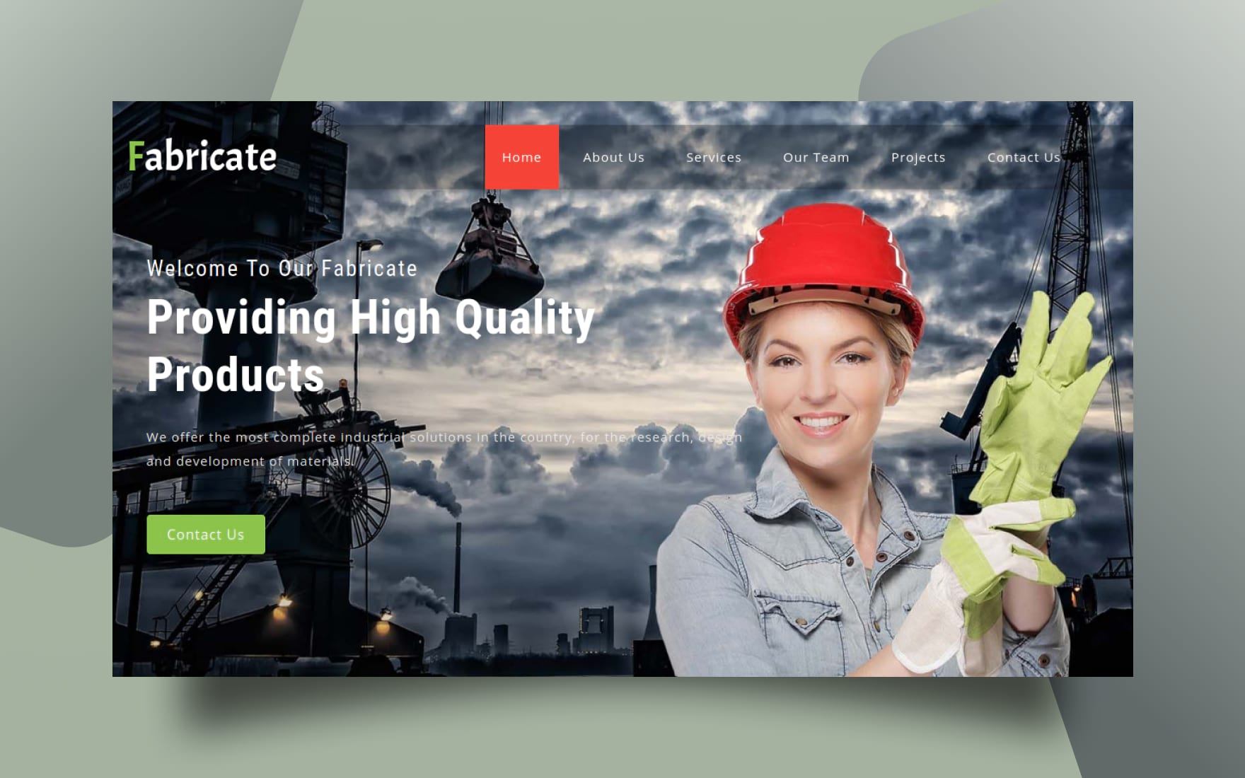 Fabricate Industrial Category Bootstrap Responsive Web Template