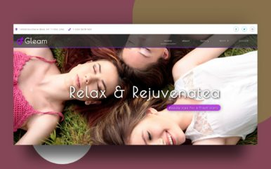 gleam website template