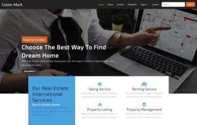 Estate Mark Real Estate Category Bootstrap Responsive Web Template