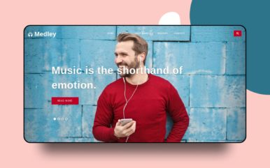 medley website template