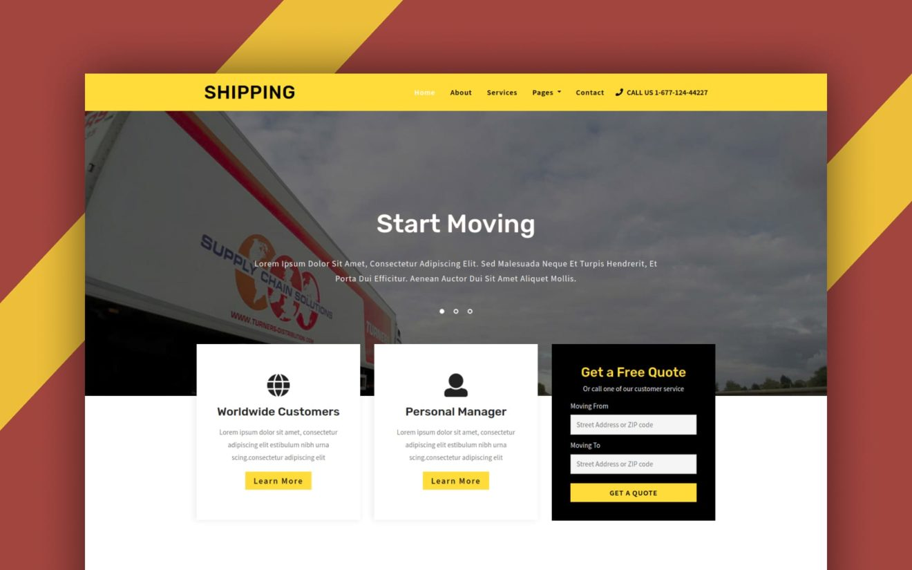 Shipping – Transportation Category Bootstrap Responsive Web Template