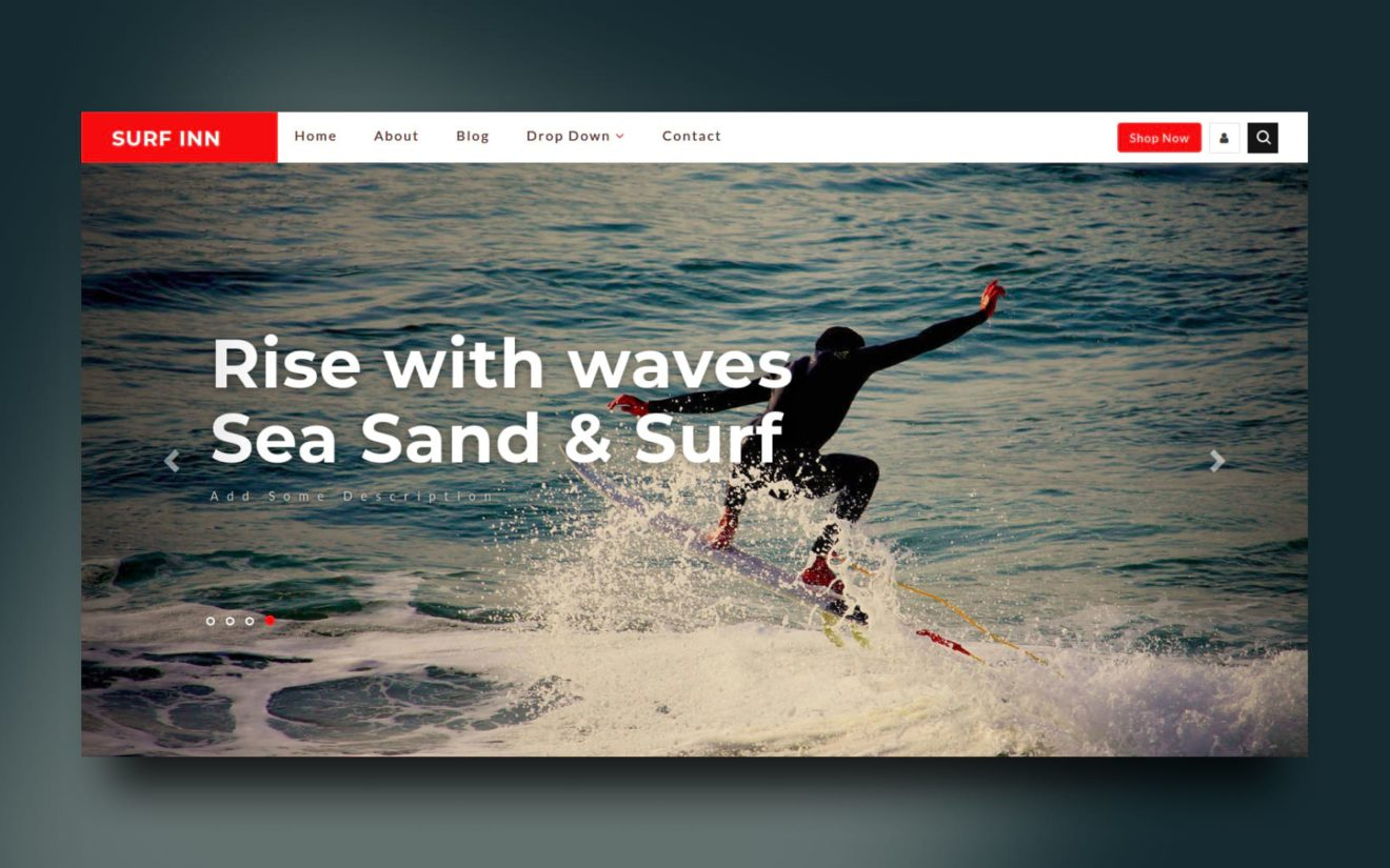 Surf Inn Sports Category Bootstrap Responsive Web Template