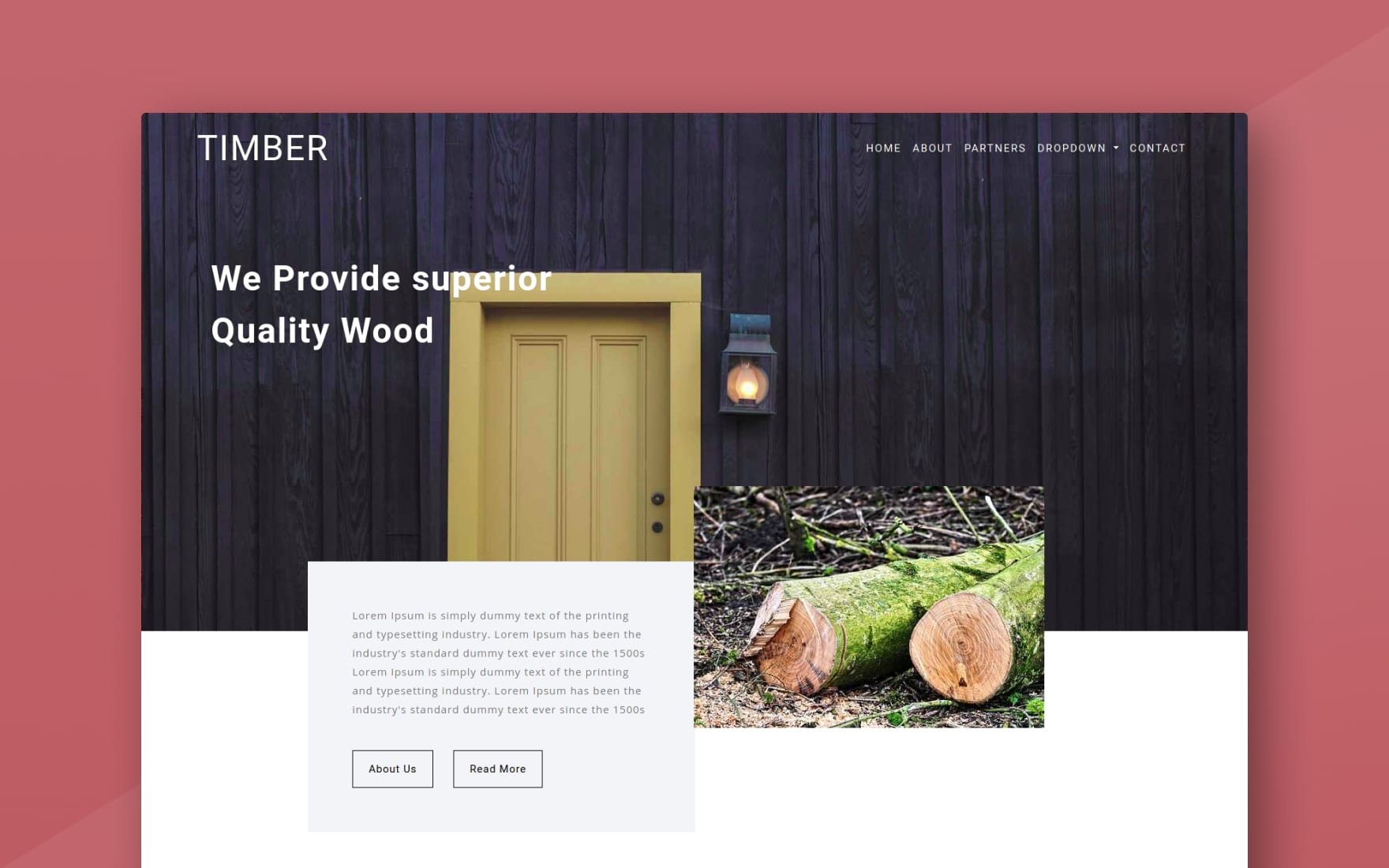 Timber Industrial Category Bootstrap Responsive Web Template