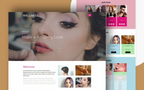 wellmess website template