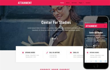 Attainment Education Category Bootstrap Responsive Web Template