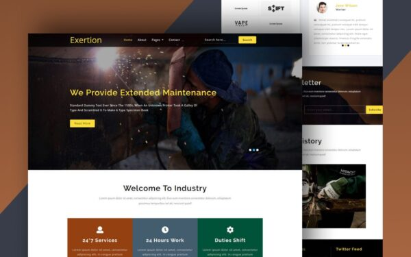 exertion website template