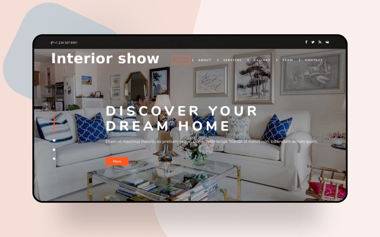 Interior Show Interior Category Bootstrap Responsive Web Template
