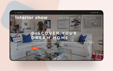 interior show website template