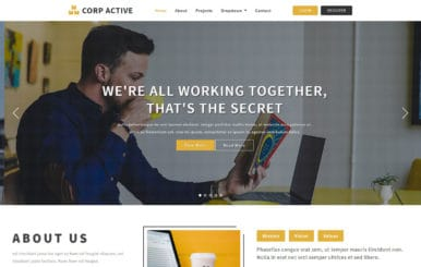 Corp Active Corporate Bootstrap Responsive Template