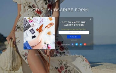 Modish Subscribe Form Flat Responsive Widget Template