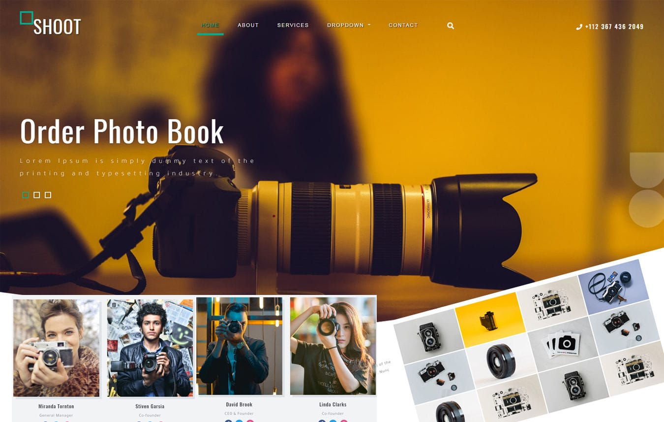 Shoot Photography Category Bootstrap Responsive Web Template