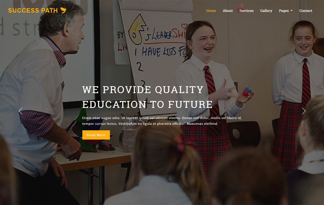 Success Path an Education Category Bootstrap Responsive Web Template