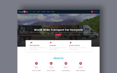 transload website template