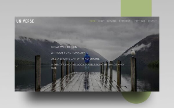 universe website template