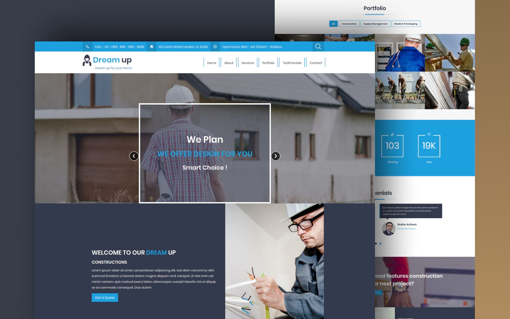 Dreamup website template
